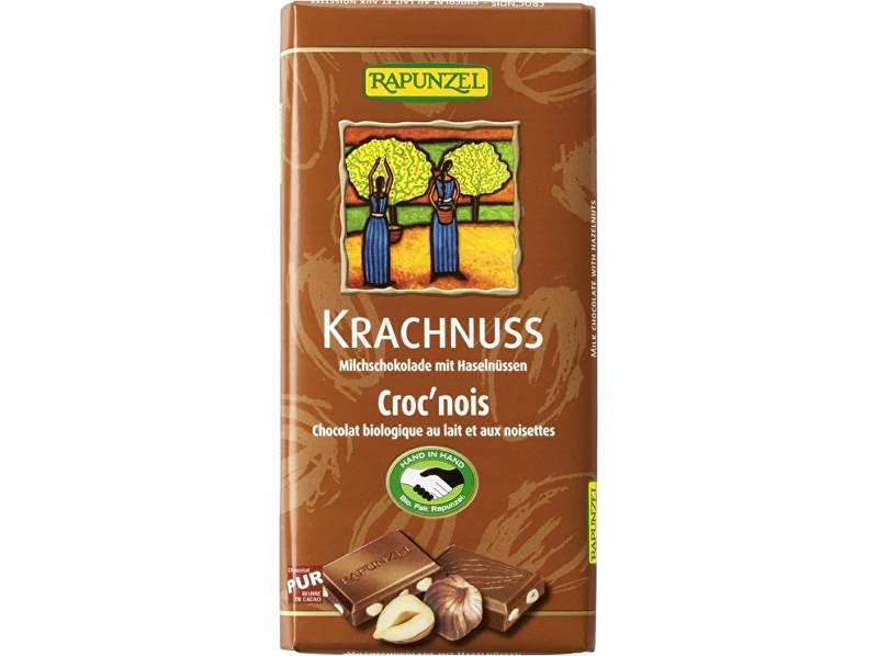 Zobrazit detail výrobku Rapunzel Bio fair trade mléčna čokoláda s lískovými oříšky 100g