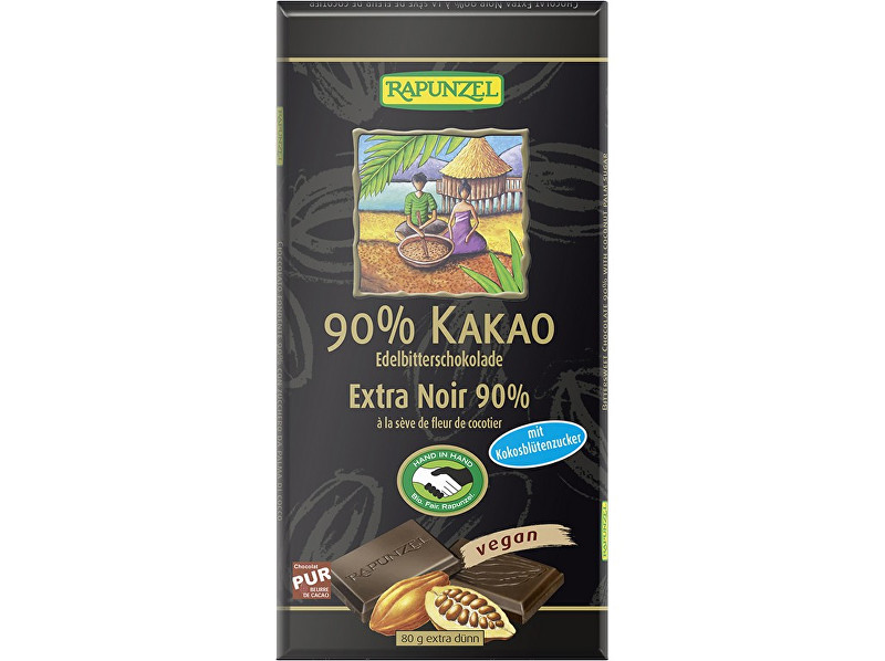 Zobrazit detail výrobku Rapunzel Bio Hořká čokoláda 90% s kokosovým cukrem 80g