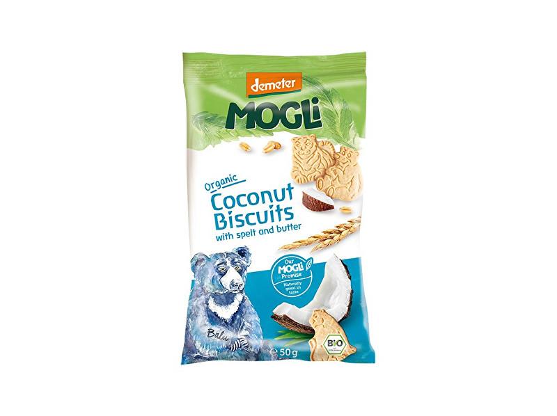 MOGLI Bio Mini sušenky medvídek máslové s kokosem bez cukru 50g