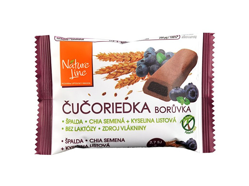 Zobrazit detail výrobku Nature Line Celozrnné sušenky s borůvkovou náplní 50g