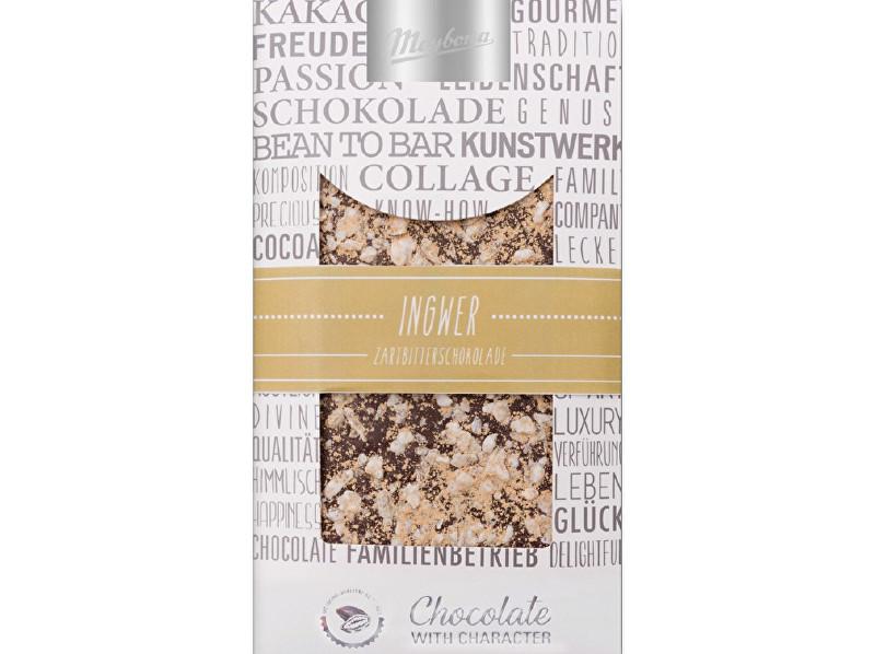 Meybona Čokoláda zdobená hořká se zázvorem 100g