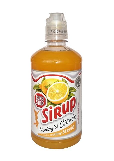 CukrStop sirup se sladidly z rostliny stévie - příchuť citron