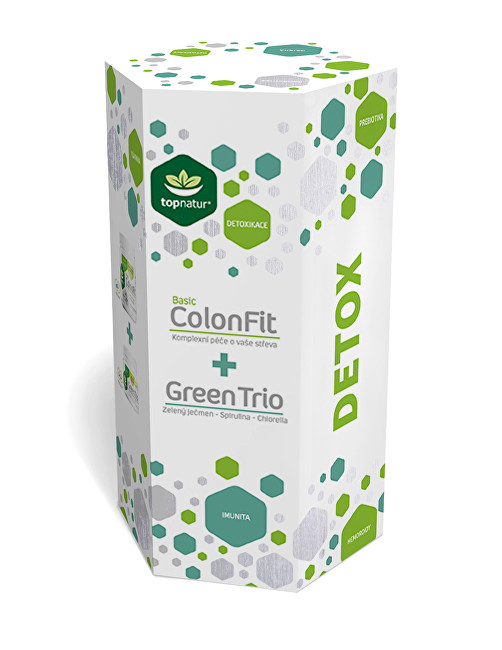 Detox ColonFit 180 kapslí + Green Trio 180 tablet