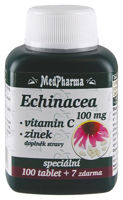 MedPharma Echinacea 100 mg + vitamín C + zinok 107 tablet