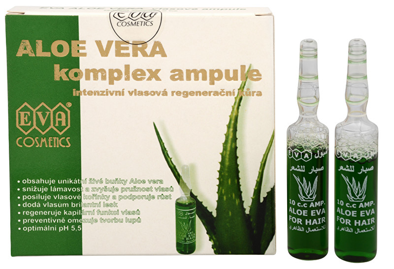 Eva Cosmetics EVA Aloe Vera Vlasové ampule 5 x 10 ml