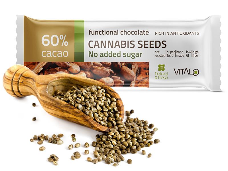 Funkční čokoláda Cannabis seeds 25g