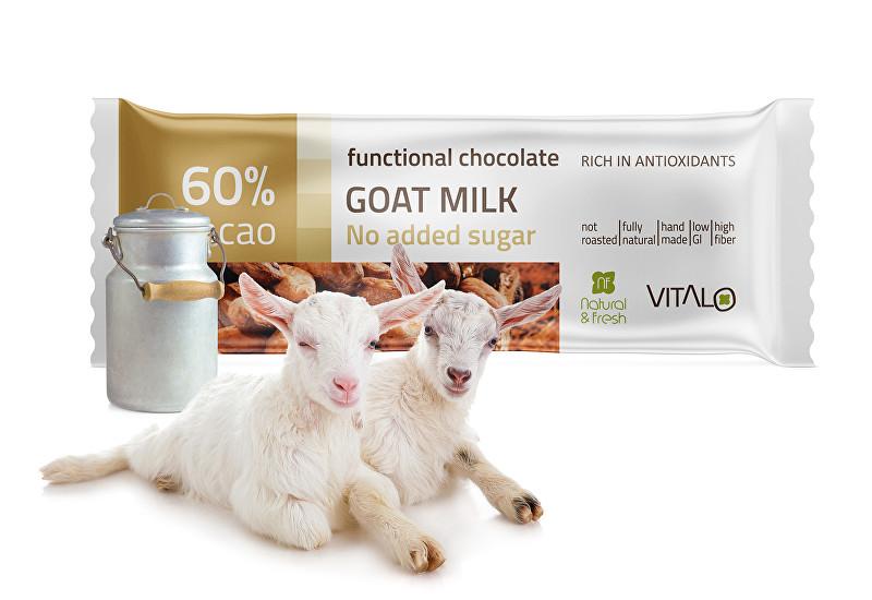 Funkční čokoláda Goat milk 25g