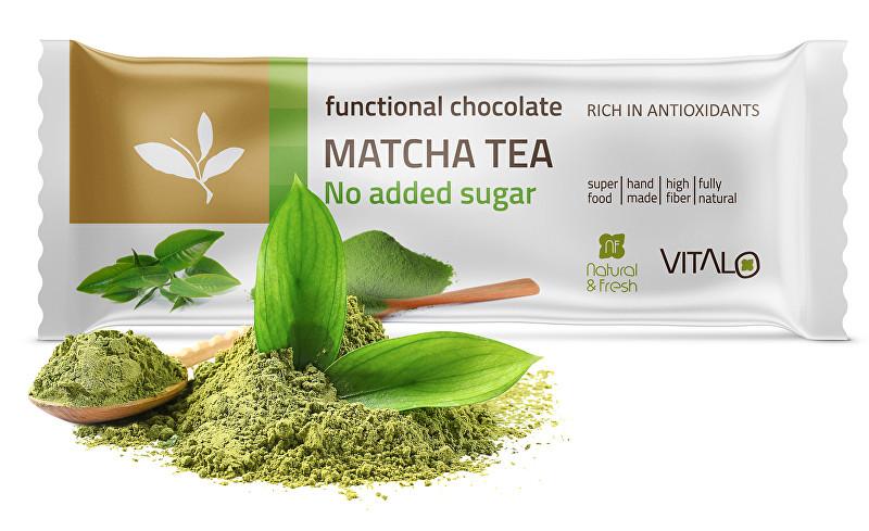Funkční čokoláda Matcha tea 25g
