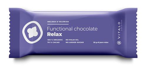 Zobrazit detail výrobku Vitalo Funkční čokoláda Relax - Melissa and Valerian 25g
