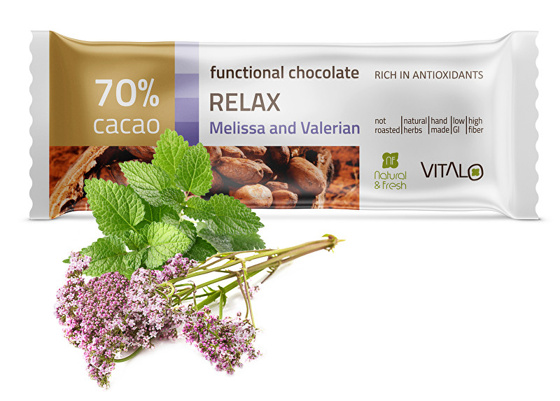 Funkční čokoláda Relax - Melissa and Valerian 25g