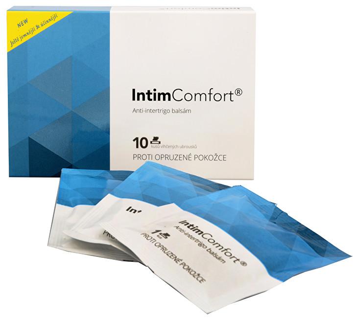 Intim Comfort Anti-intertrigo komplex balzám 10 ks vlhčených ubrousků