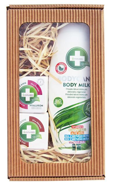 Zobrazit detail výrobku Annabis Dárkové balení Krásná pleť - Bodycann tělové mléko + Cremcann Hyaluron 15 ml + Balcann 15 ml