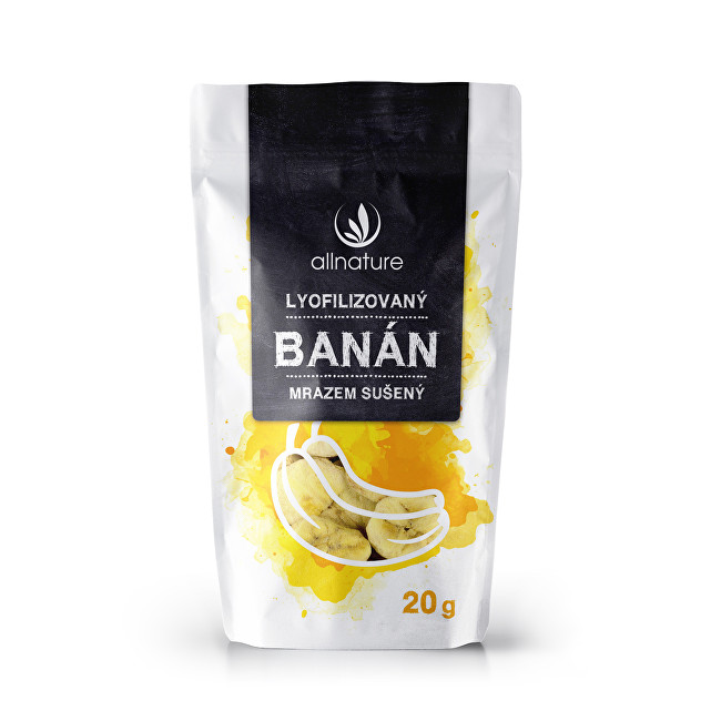 Allnature Lyofilizovaný banán 20 g
