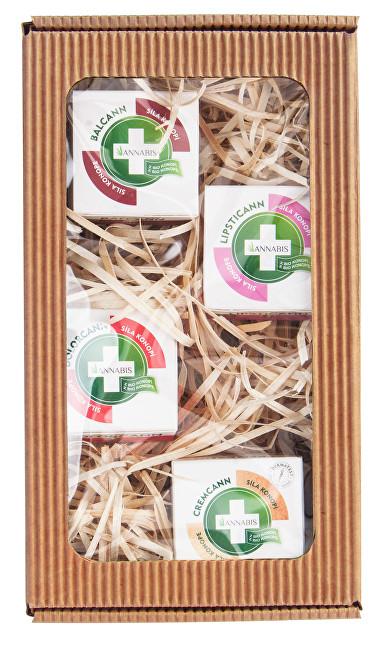 Dárkové balení Na zkoušku - Lipsticann 15 ml + Cremcann Omega 3-6 15 ml + Balcann 15 ml + Dolorcann 15 ml