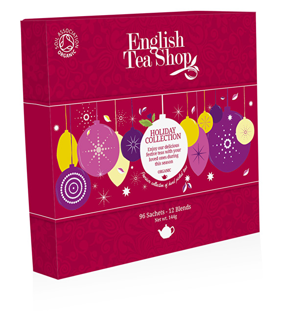 English Tea Shop Papírová kolekce 96 pyramidových sáčků - Kolekce vánoční zima Kolekce červené ozdoby