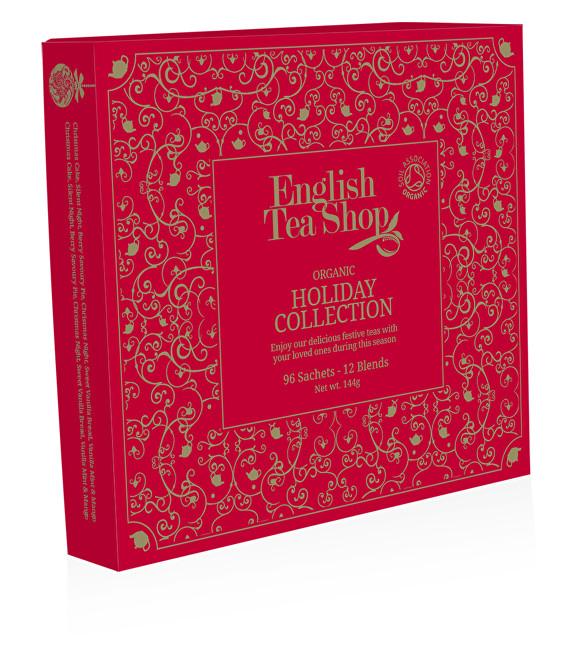Zobrazit detail výrobku English Tea Shop Papírová kolekce 96 pyramidových sáčků - Kolekce vánoční zima Vánoční červená kolekce