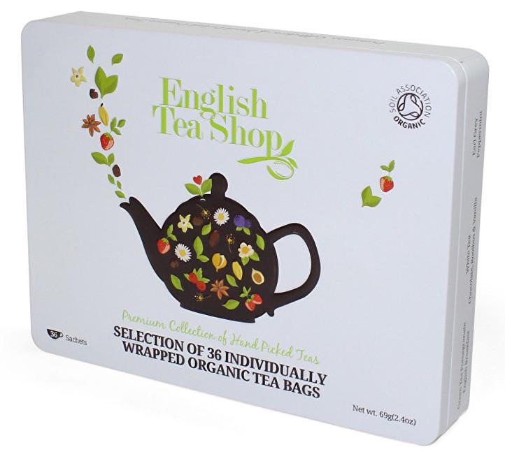 Dárková sada čajů 36 sáčků/6 příchutí - bílá