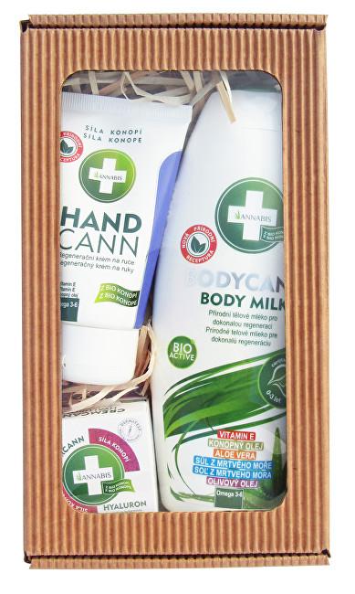 Zobrazit detail výrobku ANNABIS Přírodní regenerace tělové mléko 250 ml + pleťový krém 15 ml + mast 15 ml dárková sada