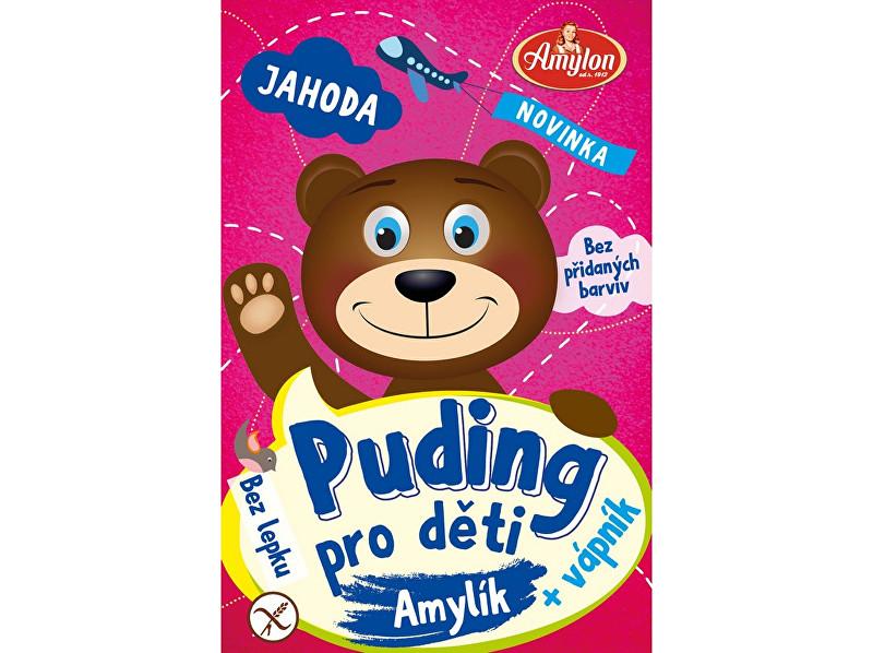 Amylon Puding jahodový pro děti Amylon 40g - bez lepku