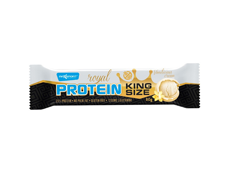 Zobrazit detail výrobku Max sport Tyčinka proteinová Royal protein Kingsize vanilka 80 g
