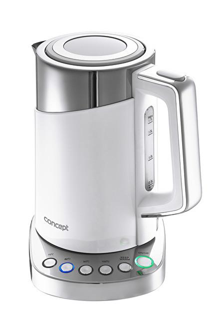 Zobrazit detail výrobku Concept Rychlovarná konvice s termoregulací Cool Touch 1,7 l WHITE RK3170