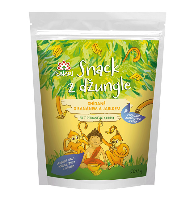 BIO Snack z džungle - snídaně s banánem a jablkem 300 g