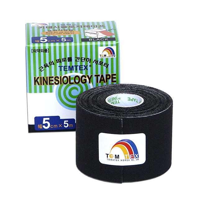 Zobrazit detail výrobku TEMTEX Tejp. TEMTEX kinesio tape 5 cm x 5 m Černá