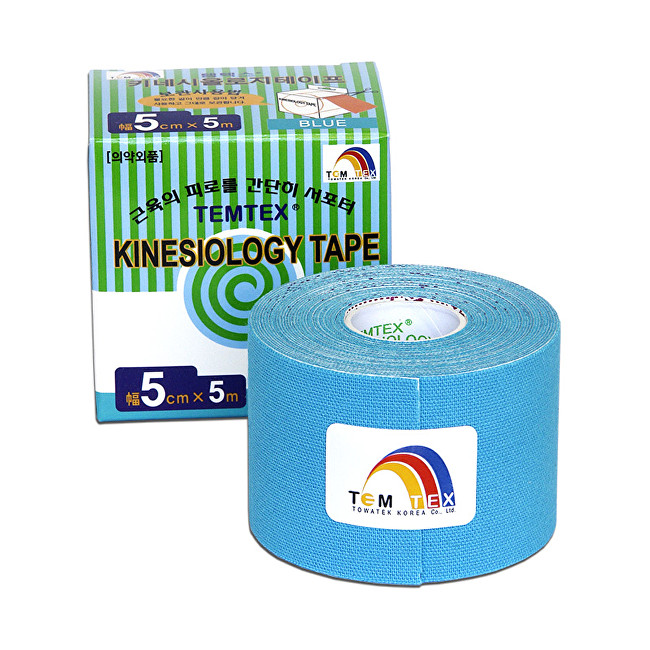 Zobrazit detail výrobku TEMTEX Tejp. TEMTEX kinesio tape 5 cm x 5 m Modrá