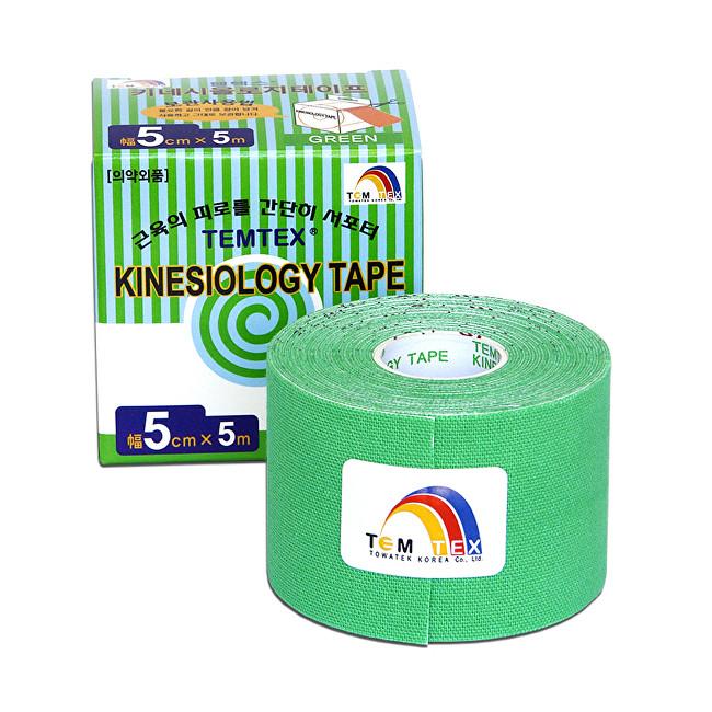 Zobrazit detail výrobku TEMTEX Tejp. TEMTEX kinesio tape 5 cm x 5 m Zelená