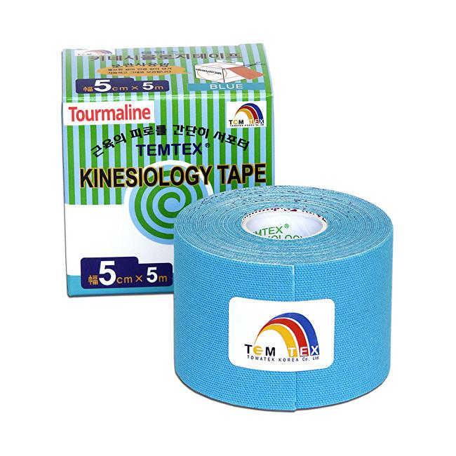 Zobrazit detail výrobku TEMTEX Tejp. TEMTEX kinesio tape Tourmaline 5 cm x 5 m Modrá