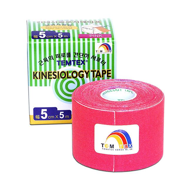 Zobrazit detail výrobku TEMTEX Tejp. TEMTEX kinesio tape Tourmaline 5 cm x 5 m Růžová