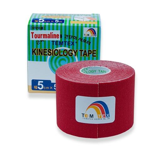 Zobrazit detail výrobku TEMTEX Tejp. TEMTEX kinesio tape Tourmaline 5 cm x 5 m Červená