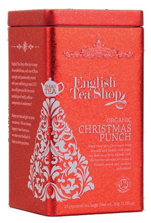 Zobrazit detail výrobku English Tea Shop Vánoční plechovka 15 hedvábných pyramidek - Vánoční punč Vánoční punč