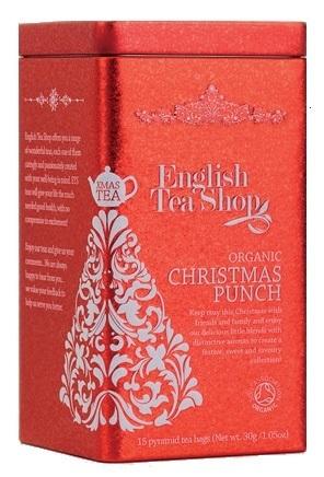 Vánoční plechovka 15 hedvábných pyramidek - Vánoční punč