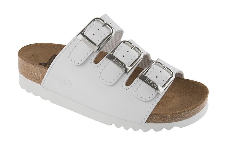 Scholl Zdravotní obuv RIO WEDGE AD Lea-W - bílá 37