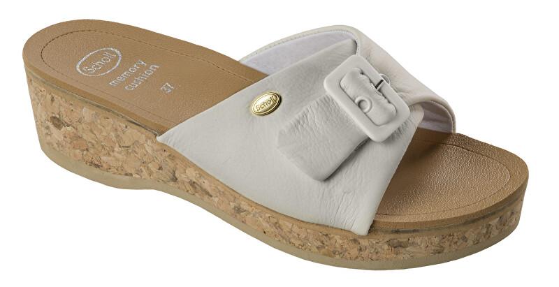 Scholl WAPPY bílé zdravotní pantofle