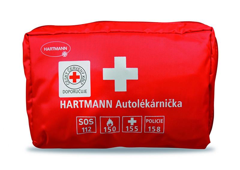 Hartmann Autolékárnička textilní - červená