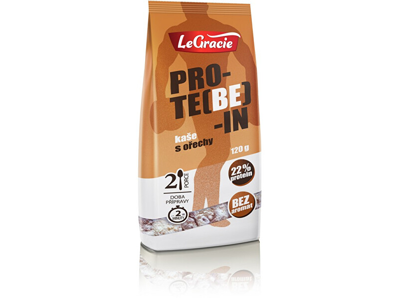 Zobrazit detail výrobku LeGracie Bezlepková proteinová kaše PRO-TE(BE)-IN ořechy 120g
