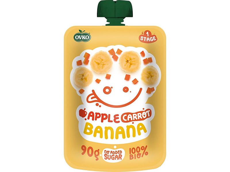 OVKO Bio kapsička jablko, karotka, banán OVKO 90 g