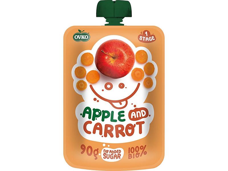 Zobrazit detail výrobku OVKO Bio kapsička jablko, karotka OVKO 90 g
