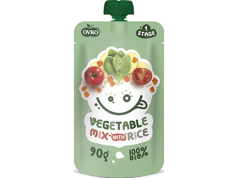Zobrazit detail výrobku OVKO Bio kapsička zeleninová směs s rýží OVKO 90g