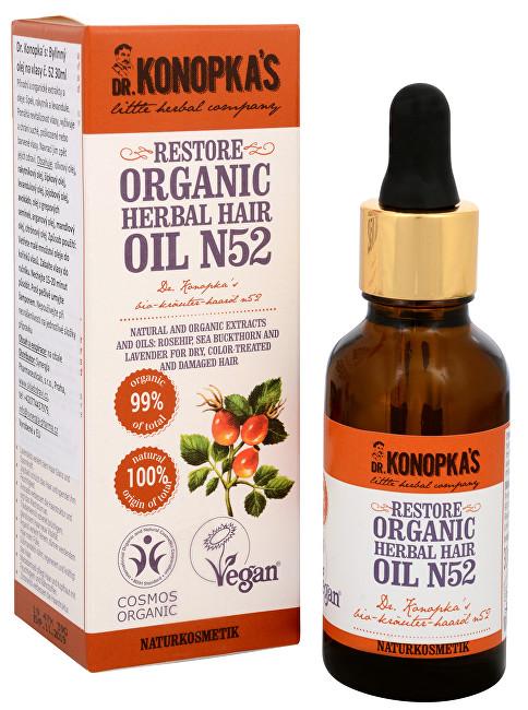 Dr. Konopka´s Bylinný olej na vlasy č. 52 pro obnovu vlasů 30 ml