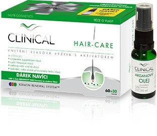 Clinical Hair-care 90 tob. + arganový olej 20 ml dárková sada