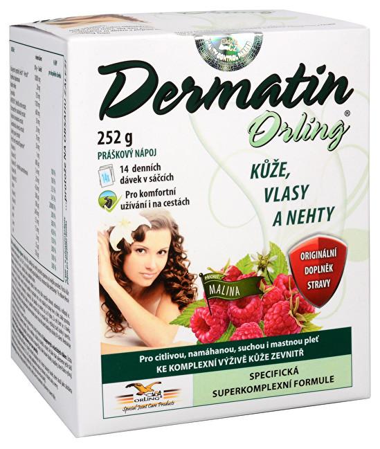 Dermatin práškový nápoj příchuť malina 14 sáčků