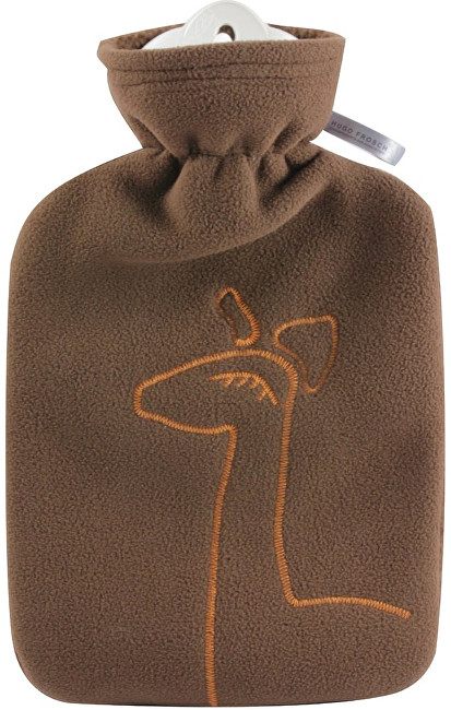Dětský termofor Classic s dvojitým měkkým fleecovým obalem - hnědý