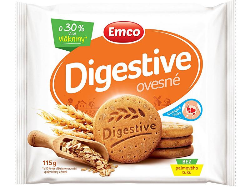 Zobrazit detail výrobku EMCO Digestive Ovesné 115g - křehké sušenky