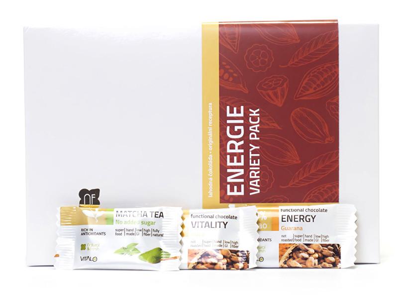 Energie - variety pack - funkční čokolády 75 g (3 x 5 ks)