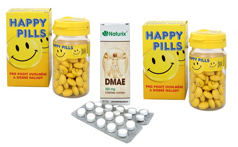 Happy Pills 2 x 75 tbl. + DMAE 50 tbl.