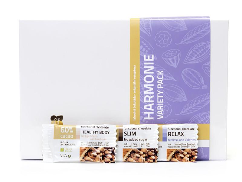 Harmonie - variety pack - funkční čokolády 75 g (3 x 5 ks)