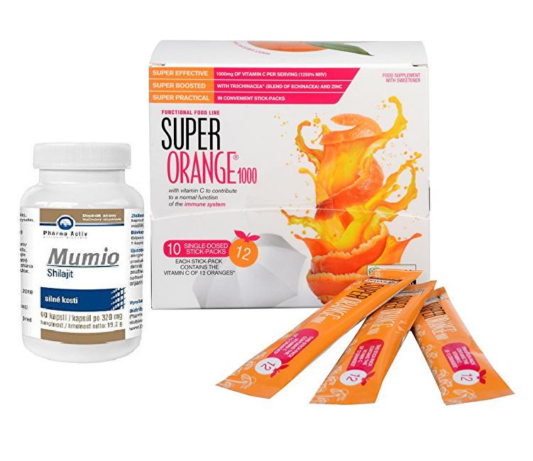 Zobrazit detail výrobku Pharma Activ Mumio 60 kapslí + Super Orange1000 10 sáčků